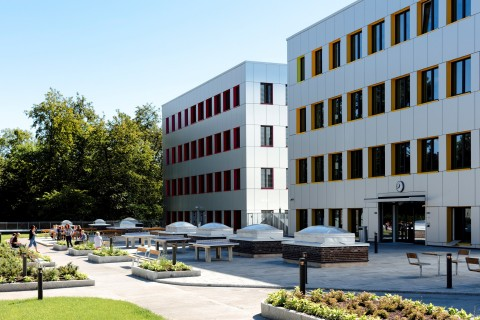 The new NOK1 billion Oslo Cancer Cluster Innovation Park opened August 24, 2015 (Photo: Business Wir ...