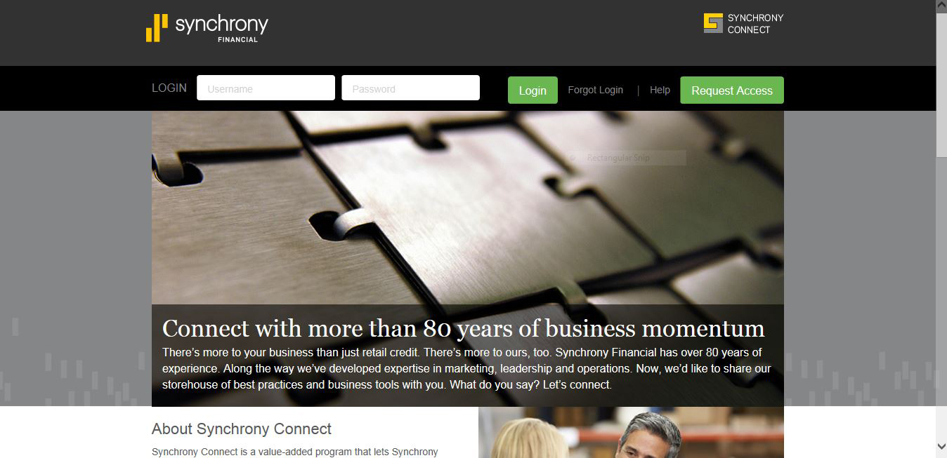 synchrony connect completes program rollout with new portal to full size
