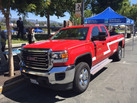 The state-of-the-art truck donated by PG&E (Photo: Business Wire)