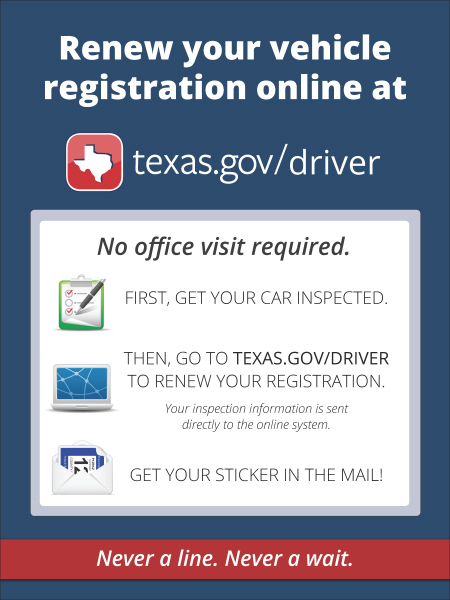 Texas Vehicle Registration Renewal Online Still Available With Two