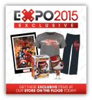 Purchase Exclusive Collectibles, Apparel, & More in the Thinkgeek Store at the GameStop EXPO 2015 (Photo: Business Wire)