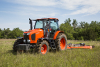 Kubota introduces new M6-Series utility tractors with four models that are performance-matched with Kubota's full line of hay tools. (Photo: Business Wire)