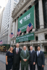 WBI Shares' five owners at the NYSE. (Photo: Business Wire)