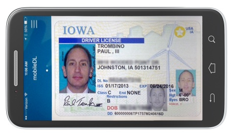 Iowa Department of Transportation (DOT) employees are the first in the nation to use the MorphoTrust mobile driver license (mDL) software. (Photo: Business Wire)