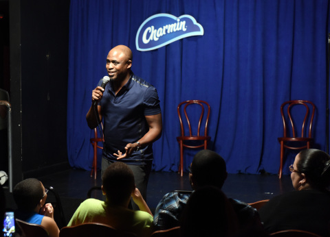 Comedian and improv artist, Wayne Brady, partnered with Charmin to host a live comedy show on Tuesday, August 25, 2015 in New York City, in honor of National Toilet Paper Day. (Photo by Diane Bondareff/AP Images for Charmin)