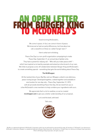 Burger King Open Letter (Graphic: Business Wire)