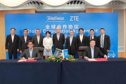 ZTE and Telefonica strengthen partnership with global cooperation agreement (Photo: Business Wire)