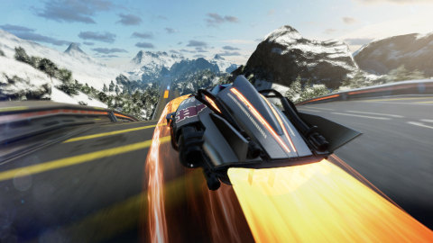 """FAST Racing Neo earns the title """"Fast"""" by throwing players into a futuristic racer with hyper-fast anti-gravity vehicles. Up to four players can race against each other in split-screen local multiplayer, with up to eight racers able to participate in online multiplayer. (Photo: Business Wire)"""