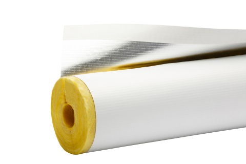 ASJ Max FIBERGLAS™ Pipe Insulation now has a poly-encapsulated paper jacket that is smooth, durable, cleanable, wrinkle-resistant, resists water staining and yellowing, and doesn't support mold or mildew growth. (Photo: Business Wire)