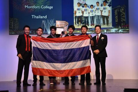 Thailand Students who win Grand Prix, with Toru Nishida, Managing Director, Panasonic Asia Pacific (Photo: Business Wire)