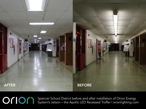 Spencer School District Before and After Installation of Orion Energy System's Jetson - the Apollo L ...