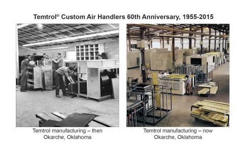 Temtrol air handler production facility through the years (Photo: Nortek Air Solutions)
