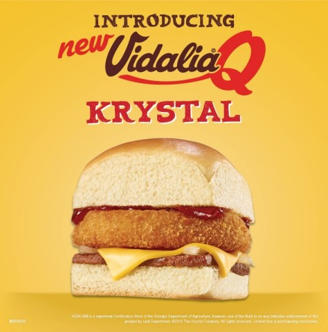 Krystal® offers a free delicious treat to their Krystal lovers with a Vidalia® Q Krystal on Wednesday, September 9! (Photo: Business Wire)