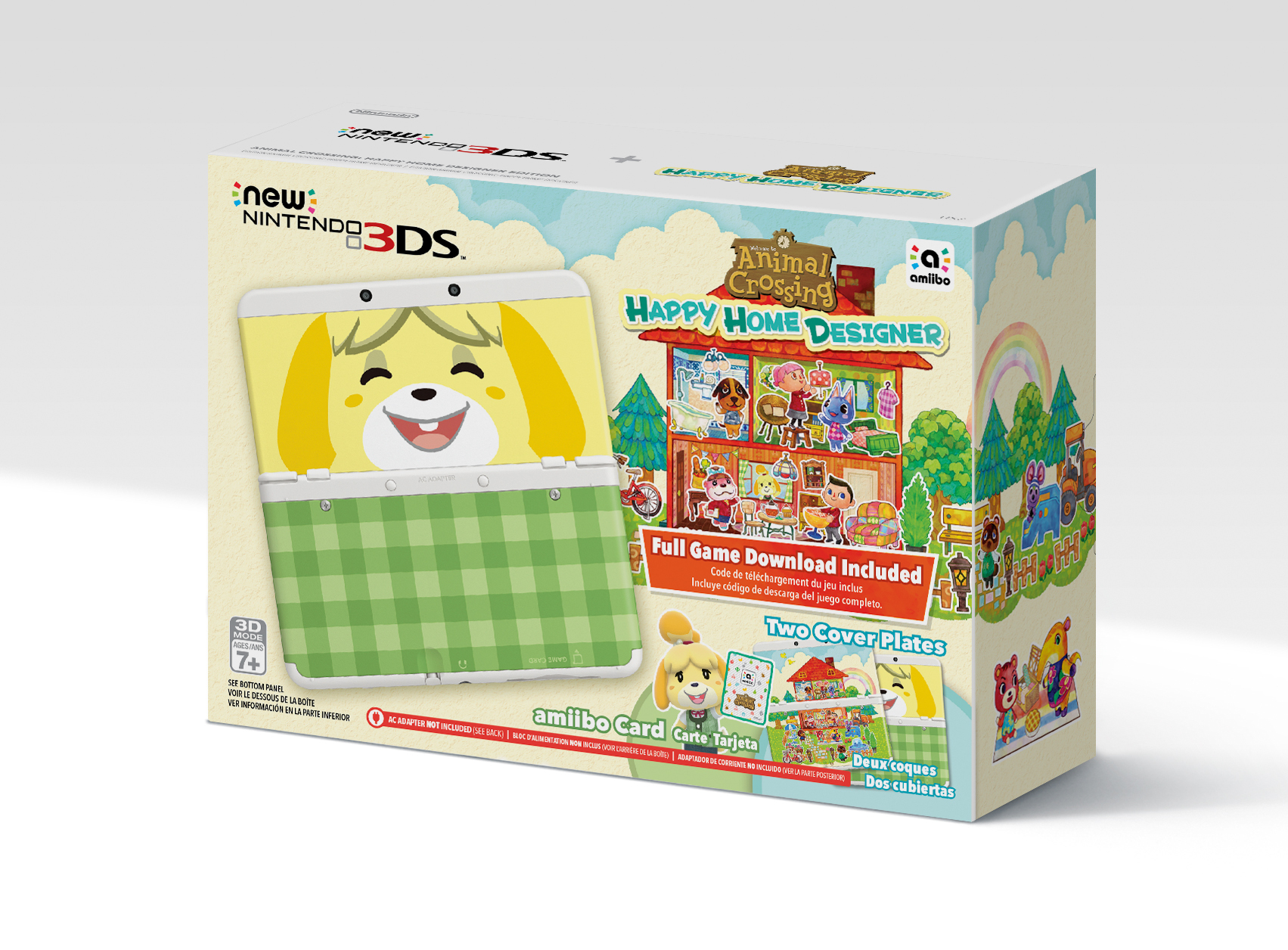 Does Animal Crossing New 3DS Bundle Come With White