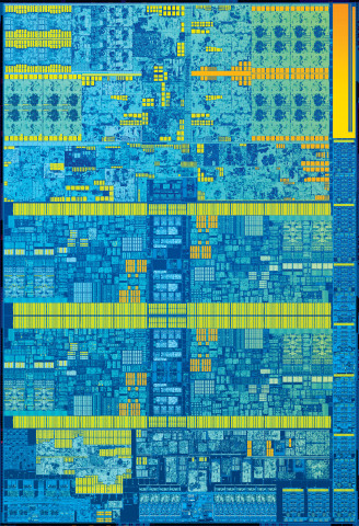6th Generation Intel Core processor die (Photo: Business Wire)