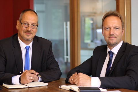 Dr. Alexander Maassen, CEO Scientific, Partner, andOlaf Ohm, CEO Commercial, Partner (Photo: Busine ...