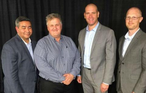 Mannatech CEO and President, Al Bala; Regional President, Chris Simons; Senior Vice President of Sup ...