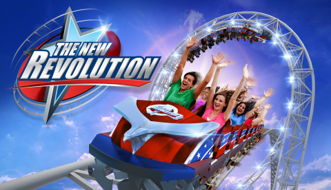 The NEW Revolution at Six Flags Magic Mountain. Spring 2016. (Graphic: Business Wire)