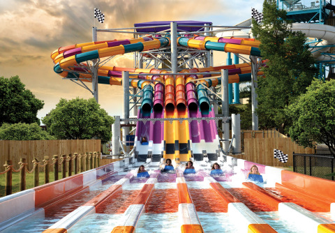 The all-new Wahoo Racer at Six Flags White Water will feature a tower standing nearly 60-feet and six aero-dynamic designed water toboggans for the ultimate competing thrill. Wahoo Racer opens in May 2016. (Photo: Six Flags White Water)