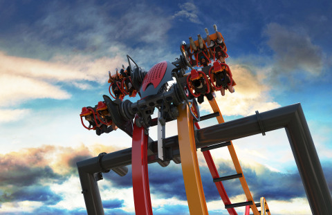 In 2016, Six Flags Great Adventure will debut Total Mayhem, a 4-D free-fly coaster that flips riders at least six times during this next-generation thrill ride adventure. (Photo: Six Flags Great Adventure)