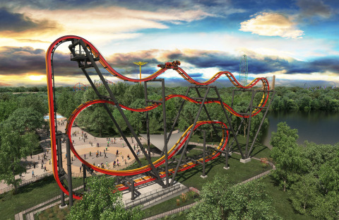 In 2016, Six Flags Great Adventure will debut its most insane coaster in history with Total Mayhem - a 4-D, free-fly coaster that flips riders at least six times along a weightless journey. (Photo: Six Flags Great Adventure)