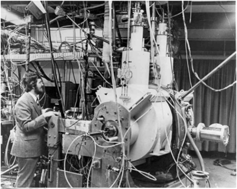 Colliding-beam technology that produced isotopes tritium and helium-3 (Photo: Business Wire)