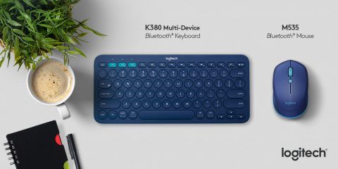 Logitech introduced the Logitech® K380 Multi-Device Bluetooth® Keyboard and the Logitech® M535 Bluetooth® Mouse (Graphic: Business Wire)