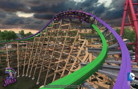 The Joker's Breaking Wave Turn (Photo: Six Flags Discovery Kingdom)