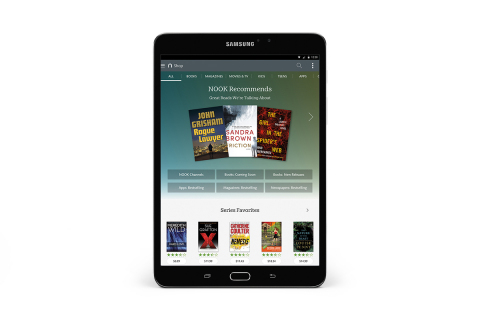 Barnes & Noble and Samsung Unveil New Samsung Galaxy Tab S2 NOOK® - the thinnest, lightest, ultra-fast device from the two companies. (Photo: Business Wire)