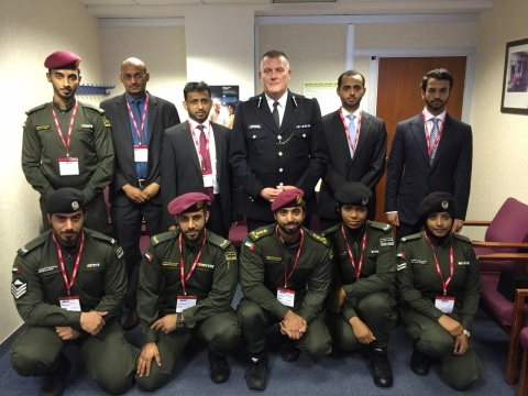 Chief of Operations at the London Metropolitan Police with the staff of ADP Security Support (Photo: ...