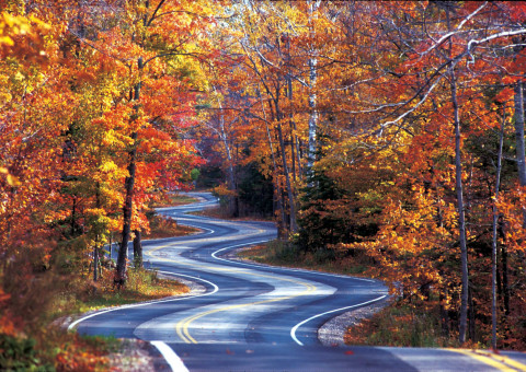 Highway 42 in Door County, Wis. Photo Courtesy Door County Visitor Bureau