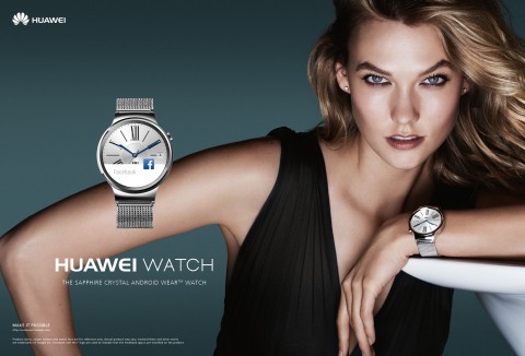Huawei Watch Mario Testino Karlie Kloss (Photo: Business Wire)