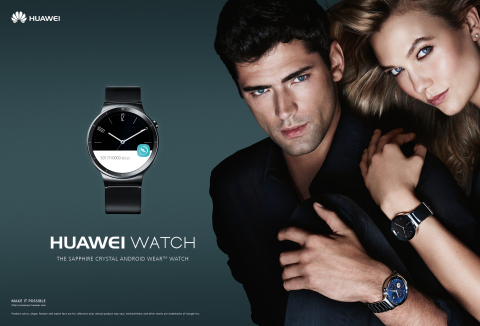 Huawei Watch Mario Testino Sean O'Pry and Karlie Kloss (Photo: Business Wire)