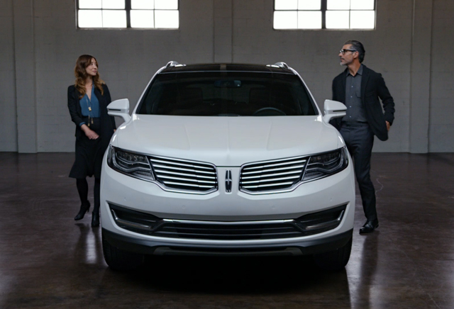 The available 360-degree camera system on the 2016 Lincoln MKX creates a bird's-eye view, which can help in parking situations.