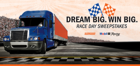 Schneider and Mobil 1 Racing team up to present the Dream Big, Win Big Race Day Sweepstakes. (Photo: Business Wire)