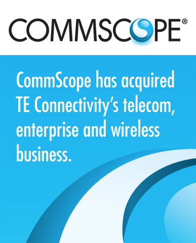 CommScope will have an extensive presence at CTIA Super Mobility including a presence with TE Connectivity, having just acquired its Broadband Network Solutions business that includes solutions for wireless, enterprise and telecom networks. (Graphic: Business Wire)