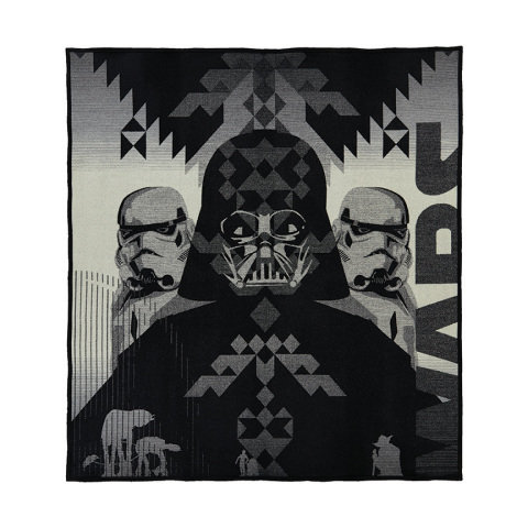 The Empire Strikes Back Blanket celebrates the iconic villains of the series, Darth Vader and the Storm Troopers. After the destruction of the Death Star, the Empire has regrouped – with Darth Vader leading the hunt for Luke Skywalker. (Photo: Business Wire)