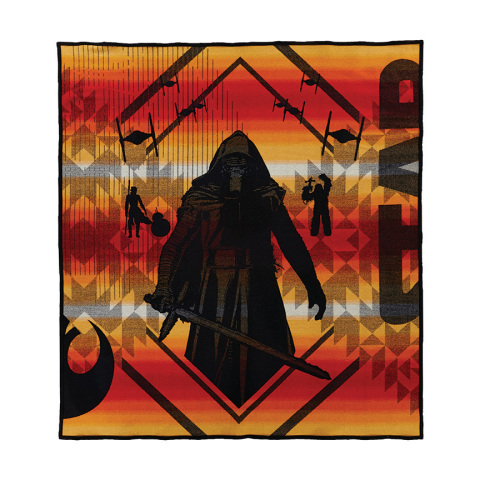 The Force Awakens Blanket design portrays the new Star Wars characters from the evil side. Pendleton Woolen Mills based the design of this blanket on the exclusive images from the new movie. (Photo: Business Wire)