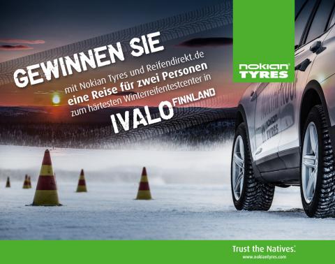 """In Ivalo, Finnisch-Lappland, rund 300km nördlich des Polarkreises, befindet sich das Härte-Testgelände des Reifenherstellers Nokian - die """"weiße Hölle"""". (Photo: Business Wire)"""