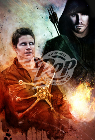 Signed Rob Prior art prints signed by the talent of Arrow & The Flash are available through Authentic Pop Collectibles. (Photo: Business Wire)
