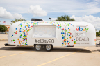 In this photograph taken Friday, Sept. 4, 2015 in Rowlett, Texas, eBay's 20th Anniversary Airstream hits the road to offer shoppers coast-to-coast – plus, shoppers everywhere at eBay.com/deals – incredible $20 deals on fashion, tech and home must-haves. (Shannon Faulk / AP Images / eBay)