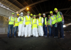 Ecova's waste audit team, along with a few executives, dressed and ready to conduct a waste audit together with personnel from Caesars. (Photo: Business Wire)