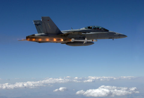 Orbital ATK's AARGM Being Launched from U.S. Navy F/A-18D Hornet (Photo: Business Wire)