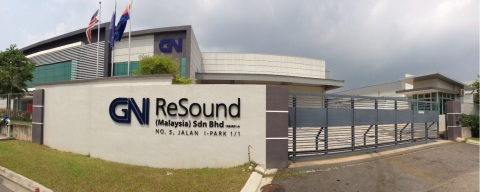 GN ReSound's new 5,000 square meters manufacturing and distribution facility in Kulaijaya, Johor, Ma ...