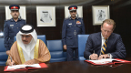 HE the Interior Minister signs the agreement with the SRT Marine CEO (Photo: Business Wire)