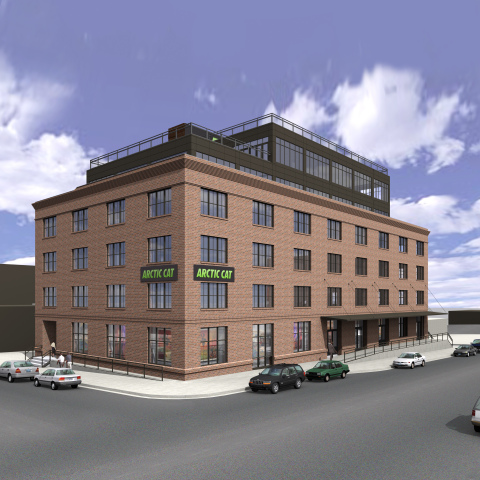 Rendering of Arctic Cat's planned Minneapolis headquarters in the North Loop. (Graphic: Arctic Cat)