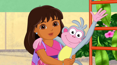 """Dora and Boots in the Dora and Friends: Into the City! special, """"Return to the Rainforest"""" (Graphic: Business Wire)"""