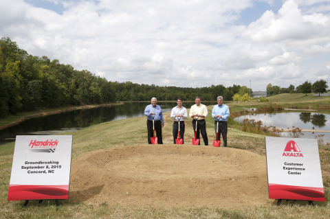 L-R: Owner of Hendrick Motorsports and Chairman of Hendrick Automotive Group, Rick Hendrick, Axalta  ...