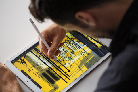 Apple today introduced an epic 12.9-inch iPad Pro with Retina display, and Apple Pencil, with breakthrough precision. (Photo: Business Wire)