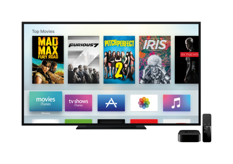 The all-new Apple TV is bringing the App Store, Siri Remote and tvOS to your living room. (Photo: Business Wire)